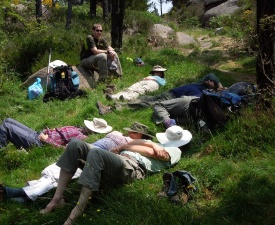 July 2013 First of many naps on Galicia tour